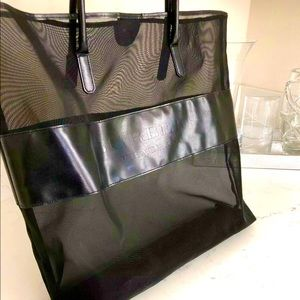 Burberry mesh tote and pouch